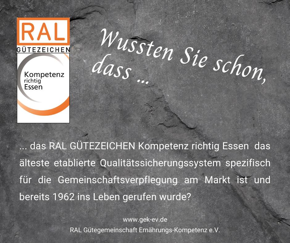 Faktencheck am Montag mit informativen Details zur RAL Gütegemeinschaft Ernährungs-Kompetenz